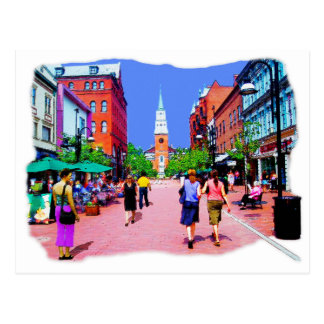 Vermont Street Painting Postcard