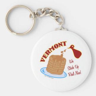 Vermont Syrup Basic Round Button Keychain