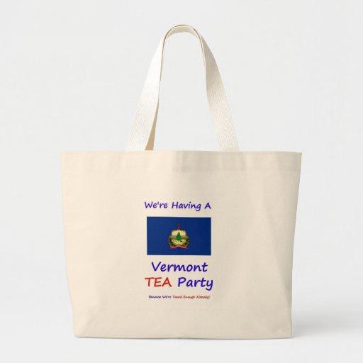Vermont TEA Party - We're Taxed Enough Already! Canvas Bag