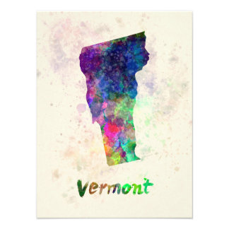 Vermont U.S. state in watercolor Photo Art