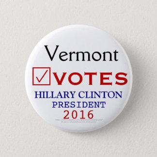 Vermont Votes Hillary Clinton President 2016 2 Inch Round Button