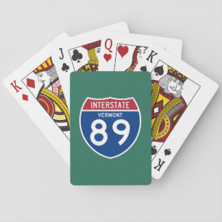 Vermont VT I-89 Interstate Highway Shield - Playing Cards