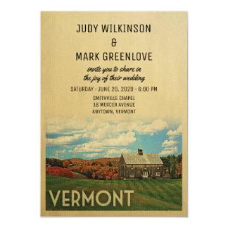 Vermont Wedding Invitation Vintage Mid-Century