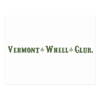 Vermont Wheel Club Ball Logo Postcard