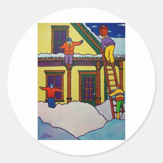 Vermont Winter Sport by Piliero Classic Round Sticker