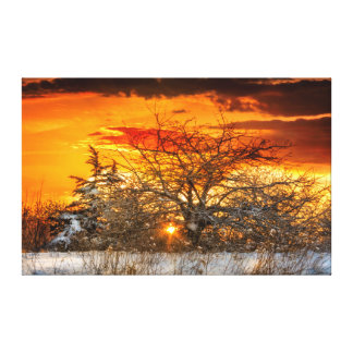 Vermont Winter Sunset Canvas Print