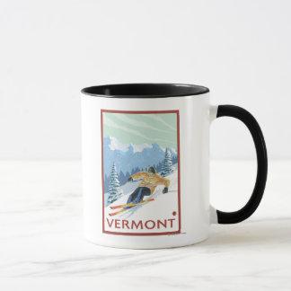 VermontDownhill Skier Scene Mug