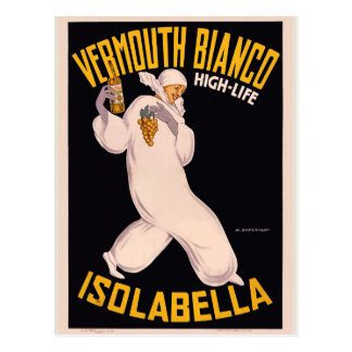 Vermouth Bianco, high-life, Isolabella Postcard