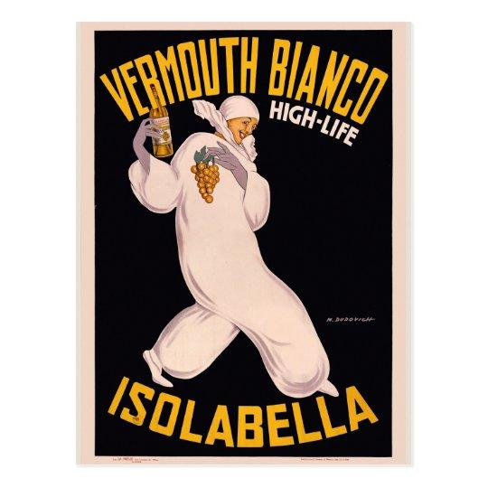 Vermouth Bianco, high-life, Isolabella Postcard