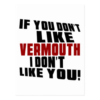 VERMOUTH Don't Like Designs Postcard