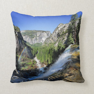 Vernal Fall from the Top - Yosemite Throw Pillow