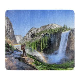 Vernal Fall Hiker and Rainbow - Yosemite Cutting Board
