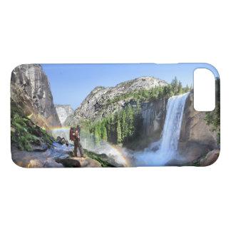 Vernal Fall Hiker and Rainbow - Yosemite iPhone 8/7 Case