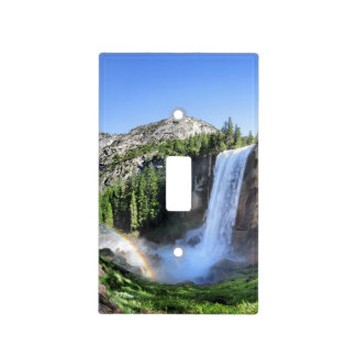 Vernal Fall Hiker and Rainbow - Yosemite Light Switch Cover