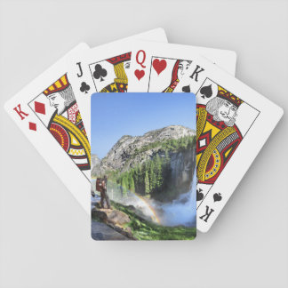 Vernal Fall Hiker and Rainbow - Yosemite Playing Cards