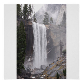Vernal Fall in Spring Poster