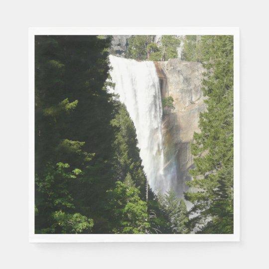 Vernal Falls II in Yosemite National Park Paper Napkins