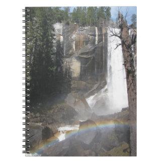 Vernal Falls Rainbow -Yosemite Spiral Notebooks