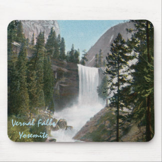 Vernal Falls Vintage Yosemite Mousepad