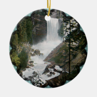Vernal Falls Yosemite Vintage Ornament
