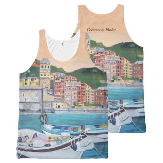 Vernazza - All-Over Printed Unisex Tank