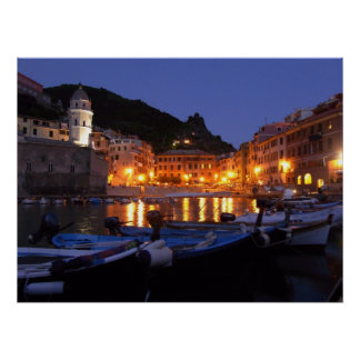 Vernazza at Night Poster