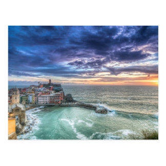 Vernazza at sunset, Italy Postcard