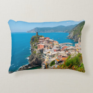 Vernazza Cinque Terre Italy Accent Pillow