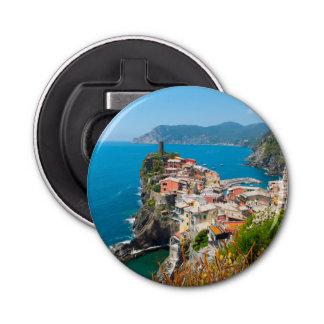 Vernazza Cinque Terre Italy Button Bottle Opener