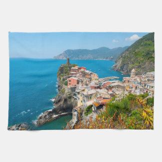 Vernazza Cinque Terre Italy Kitchen Towel