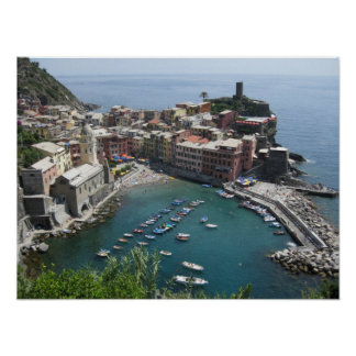 Vernazza from above poster
