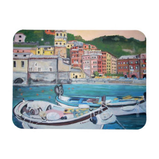 Vernazza Harbor, Italy Magnets