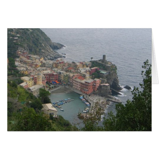 Vernazza Italy Card