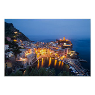 Vernazza Italy Travel Poster