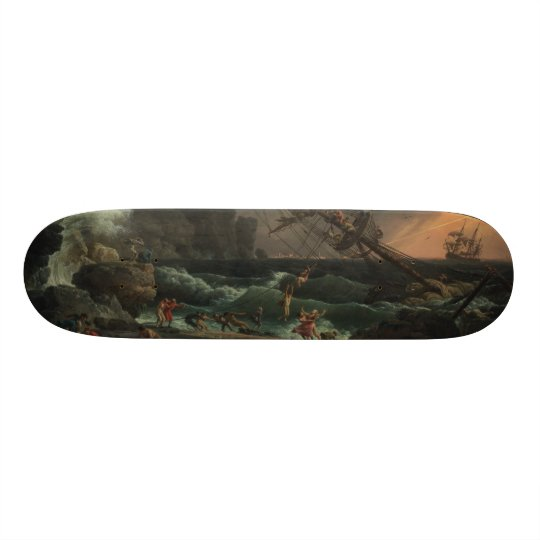 Vernet The Shipwreck painting on Skateboard
