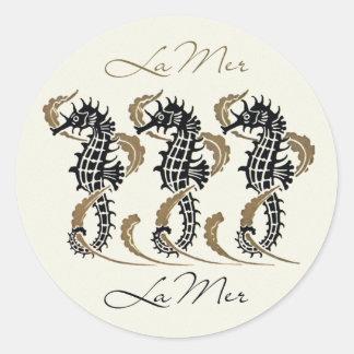Verneuil Art Nouveau Seahorse Stickers