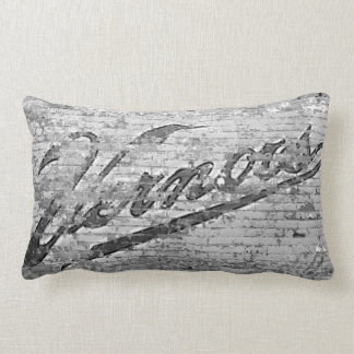 Vernor's Brick Wall Ann Arbor Michigan Lumbar Pillow