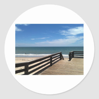 Vero Beach 2010 The MUSEUM Zazzle Gifts Classic Round Sticker