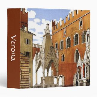 Verona CIty in Italy Vinyl Binder
