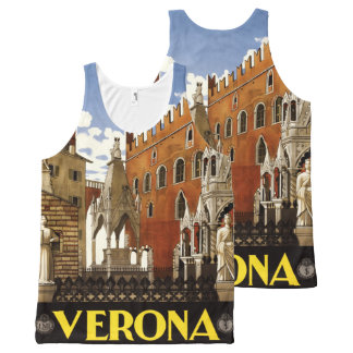 Verona Italy Vintage Travel Poster tank top