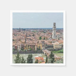 Verona panoramic view napkin