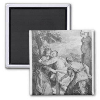 Veronese  between Vice and Virtue Square Magnet