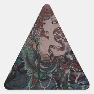 VeronicaWeaverakaVons Wings of Fate Triangle Sticker