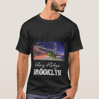 Verrazano Bridge at Night Bay Ridge Brooklyn NYC T-Shirt