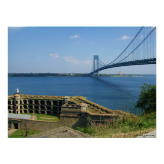 Verrazano bridge from St. Island to Brooklyn, NYC Poster