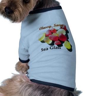 Verre chic impertinent de mer - rouge et jaune manteaux pour chien