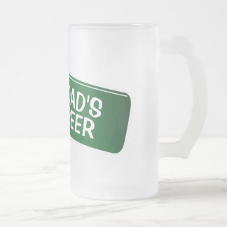 Verre de bière personnalisé pour le cadeau de fête mug en verre givré
