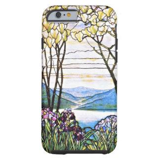 Verre souillé de Tiffany de paysage idyllique Coque iPhone 6 Tough