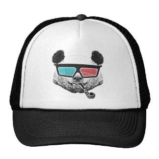 Verres à trois dimensions de panda vintage casquettes de camionneur