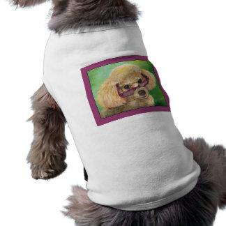 Verres de port de caniche d'abricot manteau pour animal domestique